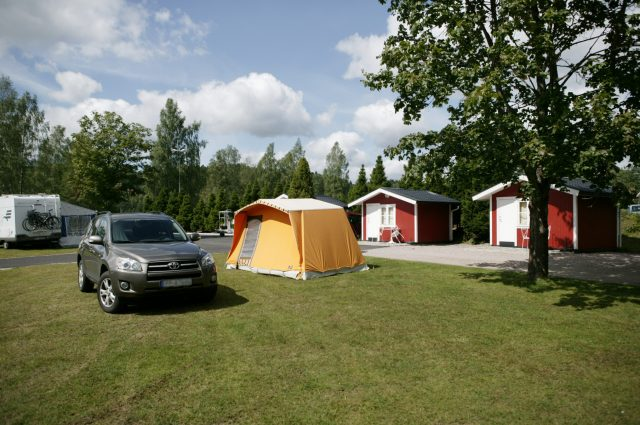 Tent with access to shower, toilet and free wi-fi